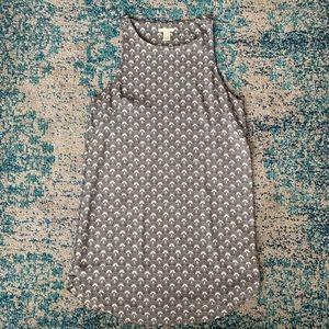 h&m / patterned sheath dress